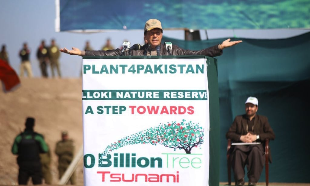 Prime Minister Khan says forest land leased in Punjab should be retrieved and protected at all costs. —PID