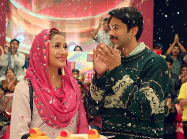 Mehwish Hayat and Fahad Mustafa in Load Wedding