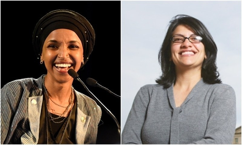 Ilhan Omar (L) and Rashida Tlaib (R) openly declare support for Palestinian-led Boycott, Divestment, Sanctions movement. ─ Photos courtesy agencies
