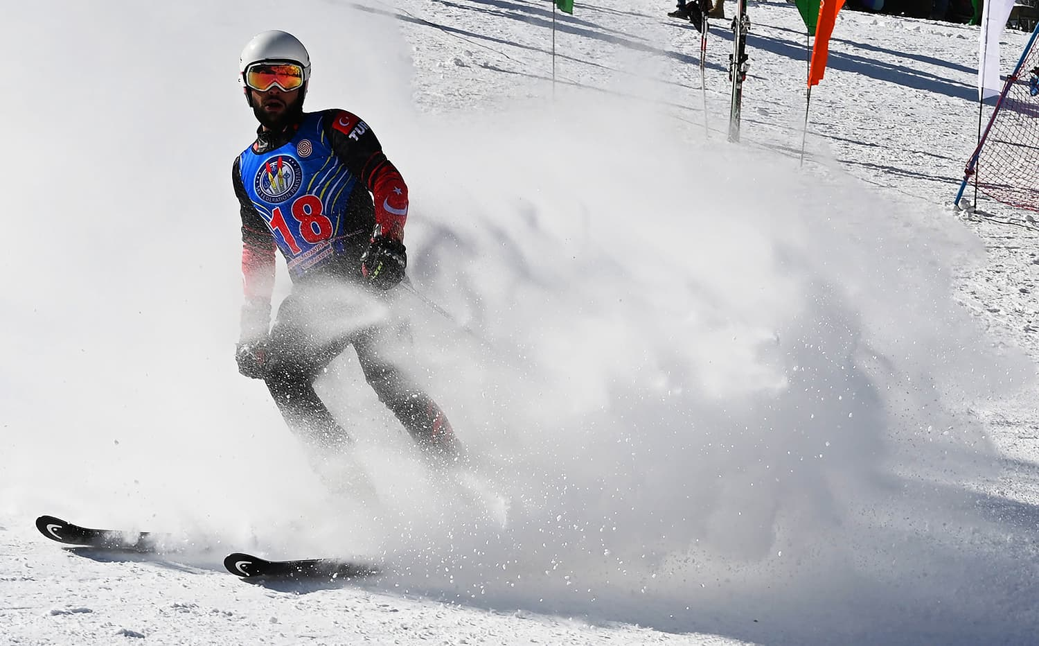 Turkish skier Berkin Usta takes part in the CAS Karakoram International Alpine Ski Cup. ─ AFP