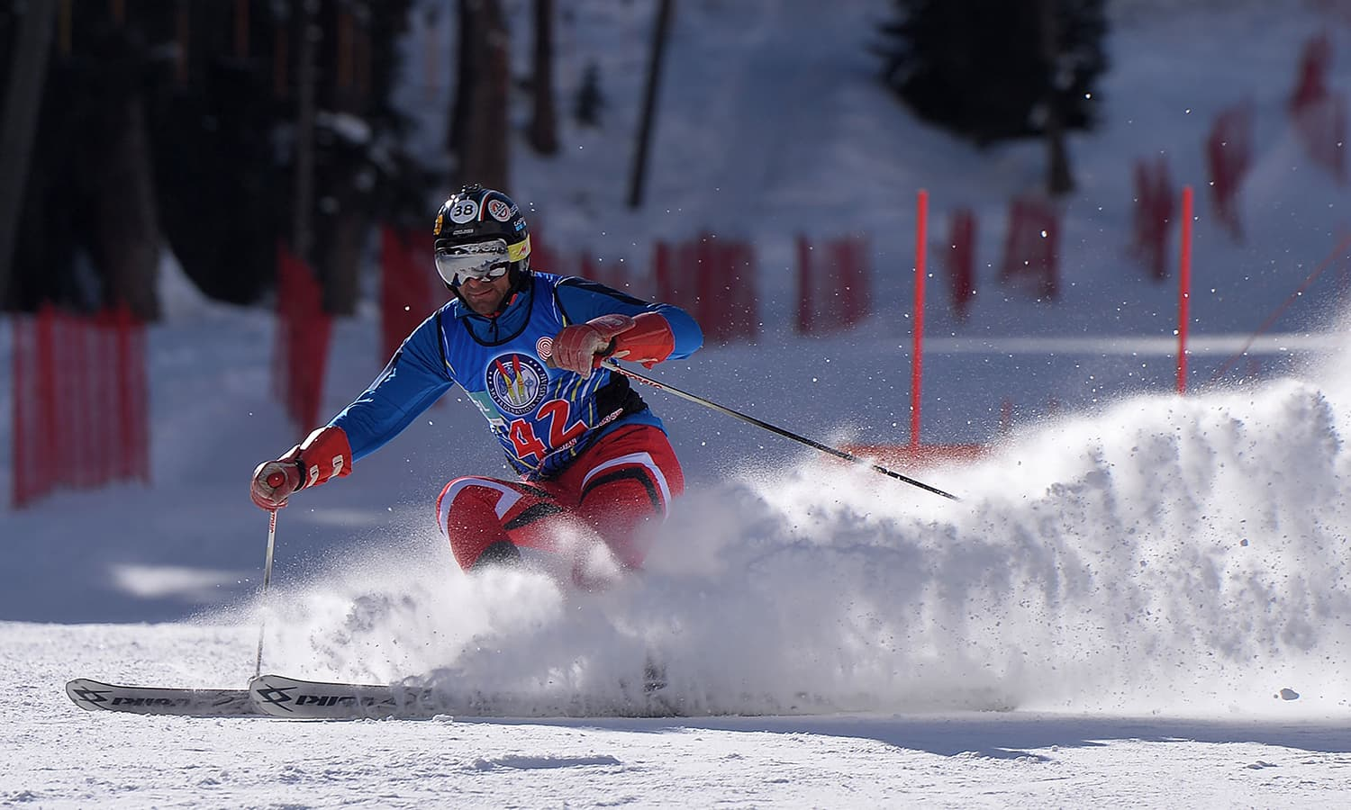 Azerbaijan skier Nurlan Abdulov takes part in the CAS Karakoram International Alpine Ski Cup. ─ AFP