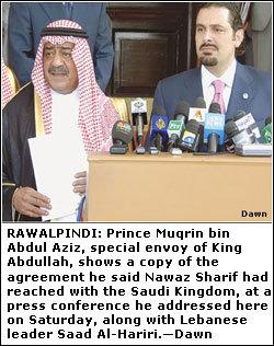 Saudi prince, Saad Hariri urge Nawaz to keep his promise