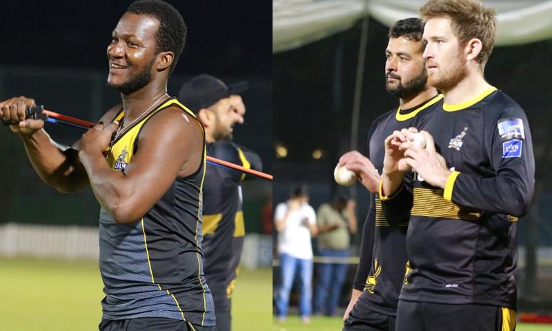تمام غیر ملکی کھلاڑیوں نے ٹیم کو جوائن کرلیا — فوٹو بشکریہ پشاور زلمی ٹوئٹر اکاؤنٹ