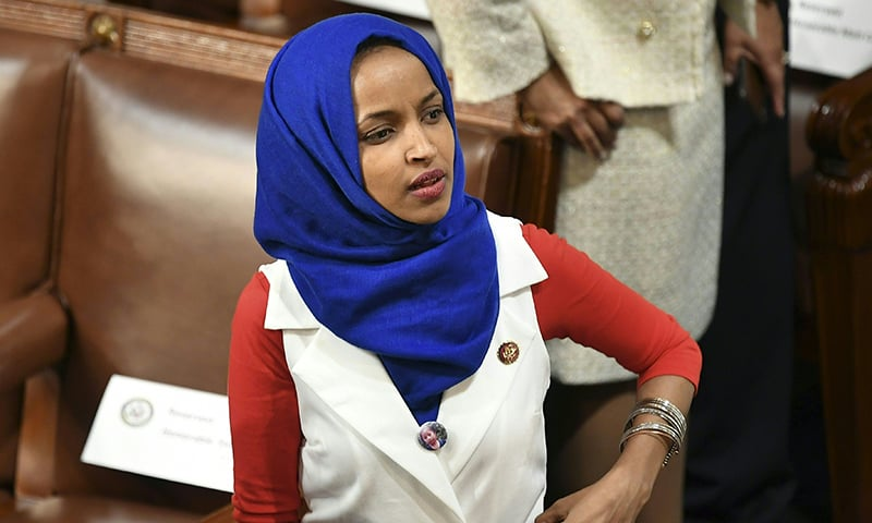 In this file photo taken on Feb 5, 2019 Representative for Minnesota Ilhan Omar is seen in the audience ahead of US President Donald Trump's State of the Union address at the US Capitol in Washington, DC. — AFP