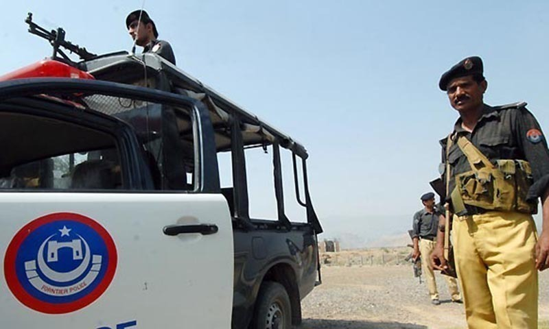 DPO Dr Mohammad Iqbal says suspected terrorists targeted a police van patrolling in the area. — AFP/File