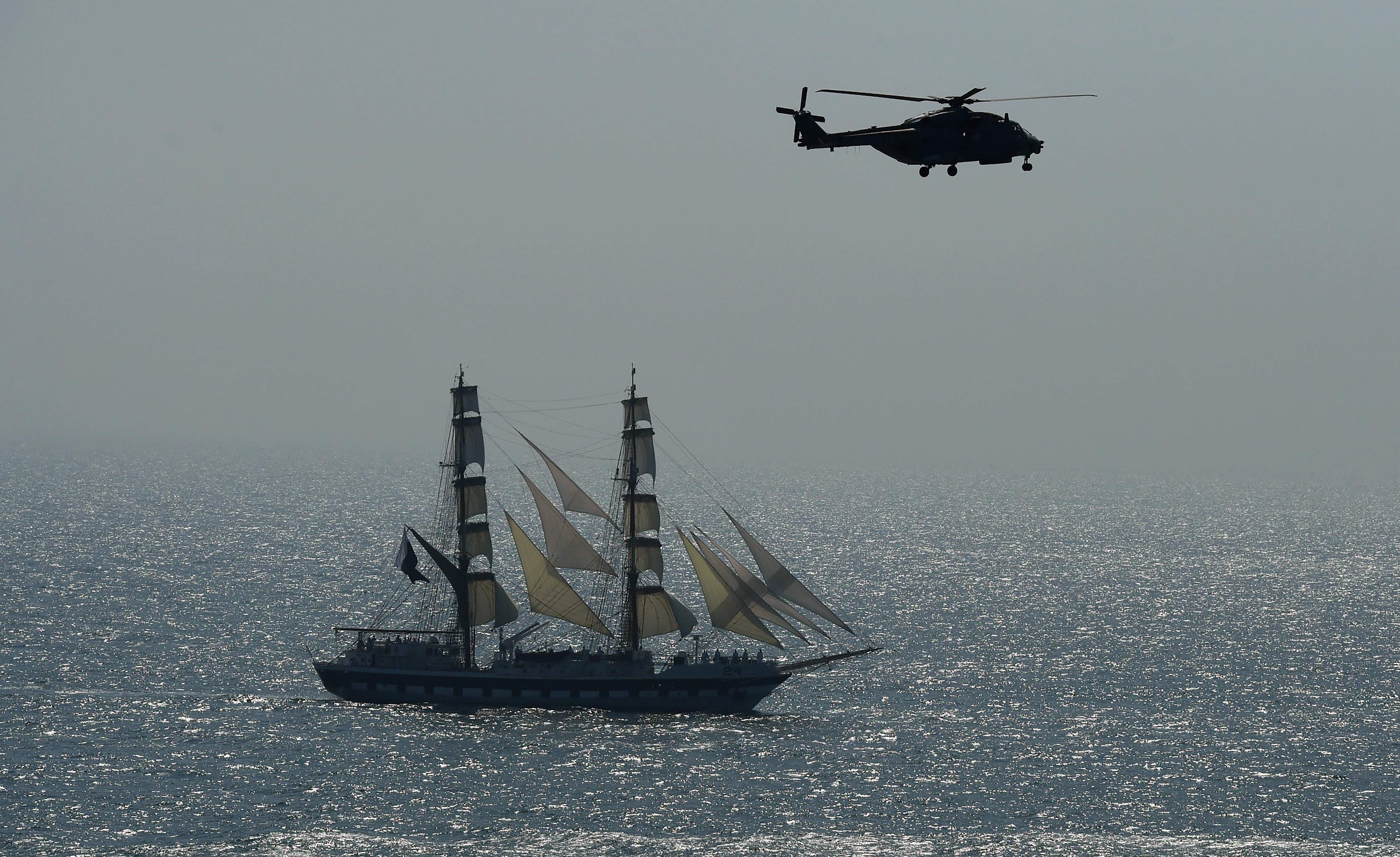 وفود کے سربراہان نے پاک بحریہ کی جانب سے امن مشق2019کے انعقاد کو سراہا —فوٹو/ اے ایف پی