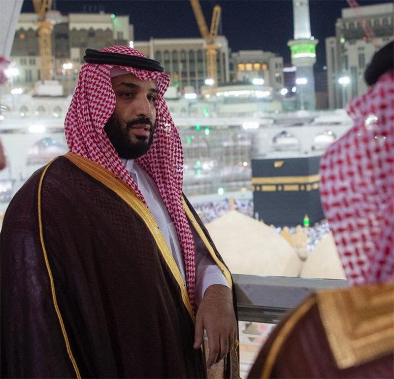 محمد بن سلمان مسجد الحرام کے داخلی امور پر گفتگو کر رہے ہیں— تصویر بشکریہ ٹوئٹر
