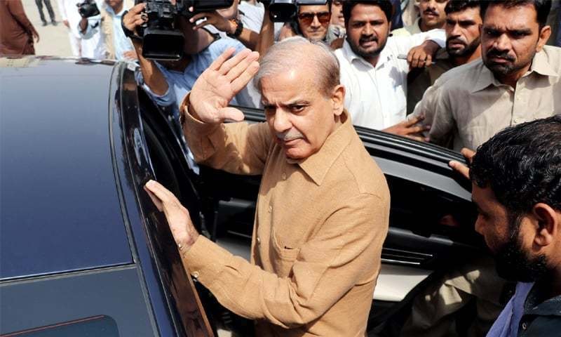 A two-judge bench accepted Shahbaz Sharif's request for bail and ordered his release.  ─ File photo