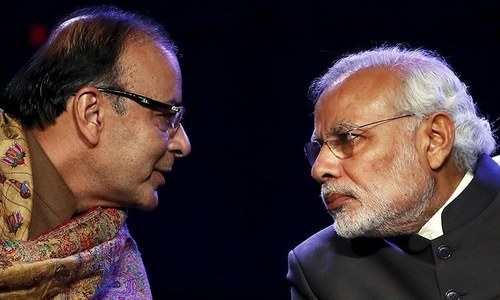 "India will initiate diplomatic steps to ensure ""complete isolation"" of Pakistan, says Indian Finance Minister Arun Jaitley following a cabinet meeting chaired by Prime Minister Narendra Modi. — File photo"