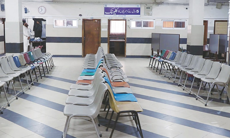 AN empty portion of the NICH on Saturday as the doctors' strike continued for the fourth day.—Online