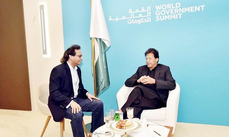 Prime Minister Imran Khan during an exclusive interview with the Saudi Gazette. ─ Photo courtesy Saudi Gazette