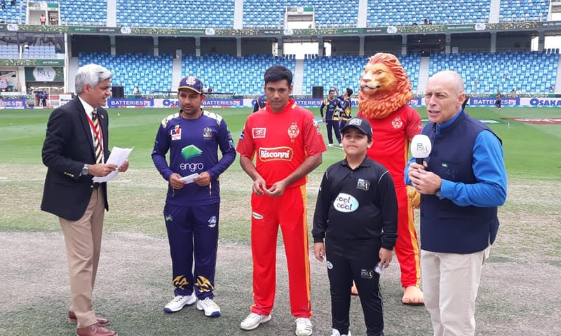 Quetta won the toss and elected to bowl first against Islamabad. — Photo courtesy Pakistan Super League Twitter