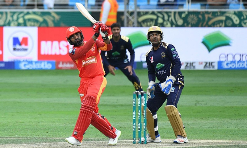 Islamabad United set a 158-run target for Quetta Gladiators to chase in their 2019 Pakistan Super League (PSL) match at the Dubai International Cricket Stadium on Sunday. — Photo courtesy Pakistan Super League Twitter