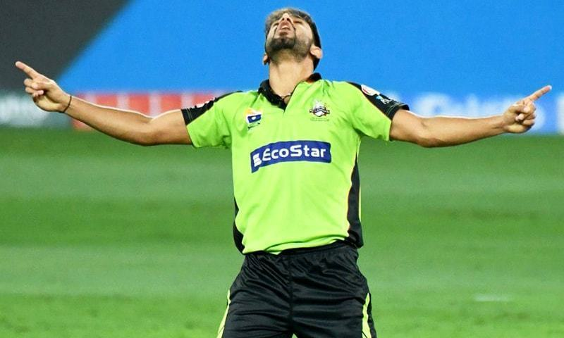 HARIS Rauf is over the moon after taking another Karachi Kings wicket.—courtesy PCB