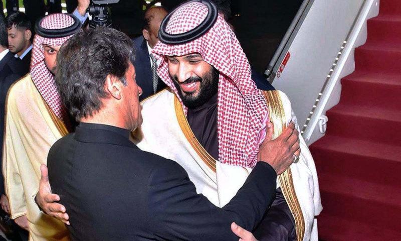 سعودی ولی عہد کا پاکستان آمد پر عظیم الشان استقبال کیا گیا تھا — فوٹو: اے پی پی