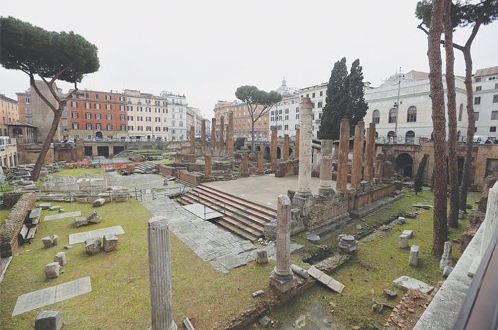 Rome: A view of the archaeological site of Largo Argentina.—AP