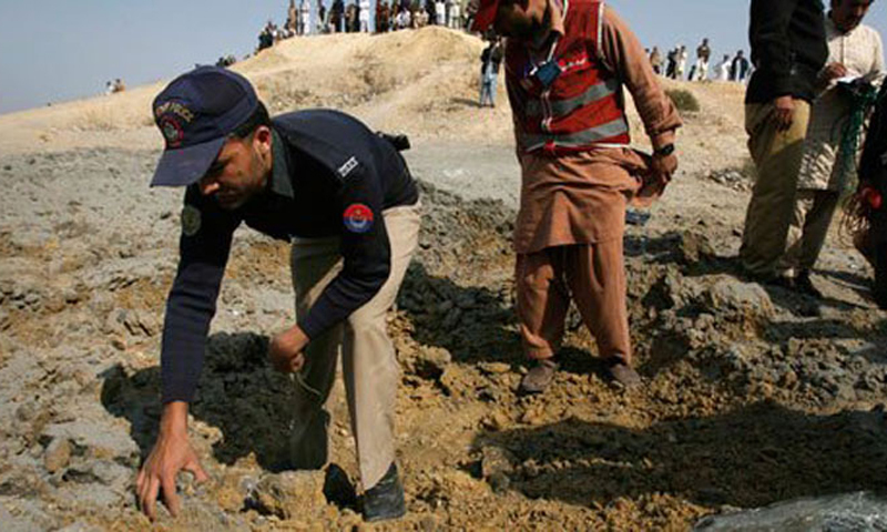 Three members of the force were travelling on a motorbike that hit a landmine in Shamsar area of Dera Bugti. — File photo