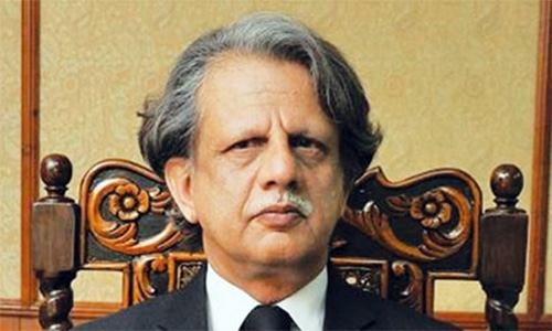 Justice Sheikh Azmat Saeed is heading the bench that is hearing the contempt case. — File photo