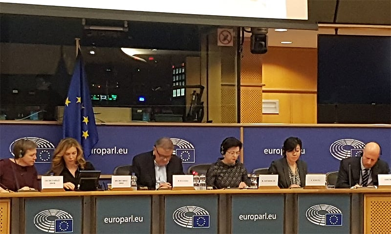 The European Parliament's sub-committee on human rights hosted an official exchange of views on the situation of human rights in Indian-occupied Kashmir. ─ Photo courtesy PID