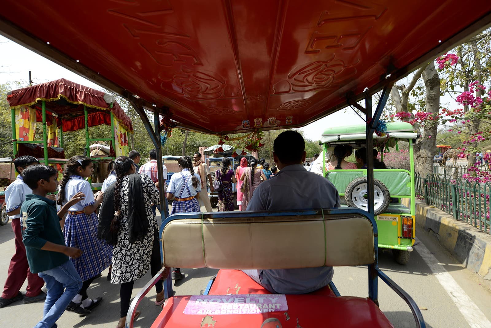 View from a rickshaw. Author provided.