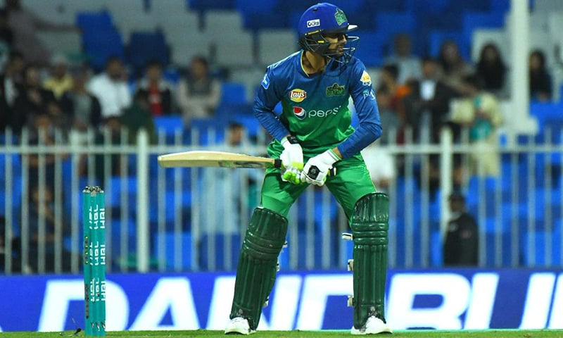 Skipper Shoaib Malik was the highest scorer for the Sultans with 53 runs. — Photo courtesy Pakistan Super League