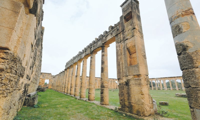 Shahhat (Libya): A general view of the ancient ruined city of Cyrene.—Reuters