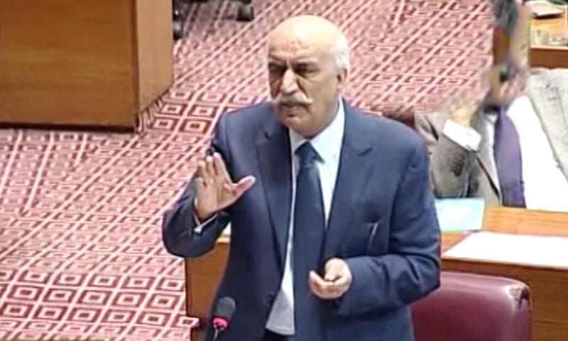 """The veteran PPP leader pointed out that although there are many leaders facing references, it was only the Sindh Assembly speaker who was """"arrested in a humiliating way"""". ─ DawnNewsTV"""