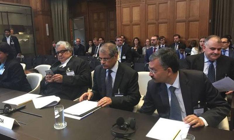 عالمی عدالت انصاف بھارتی وکیل نے پاکستان کی جانب سے استعمال کیے گئے الفاظ پر اعتراضات اٹھائے — فائل فوٹو/اے ایف پی
