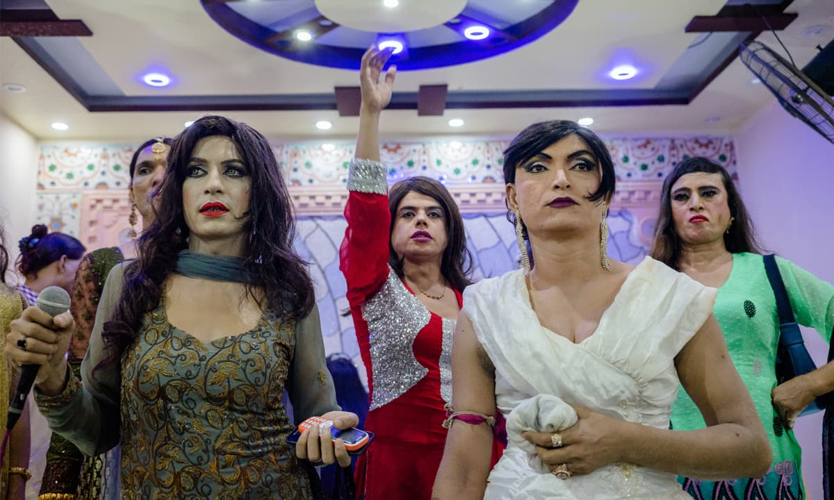 Members of  the transgender community at an event