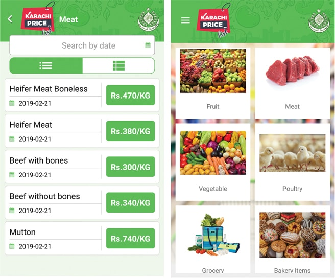 Karachi official price list app for daily use items launched