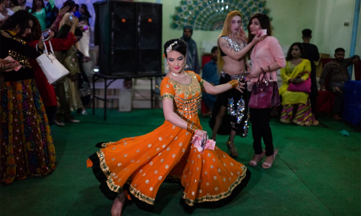 A transgender dancer performs at a function