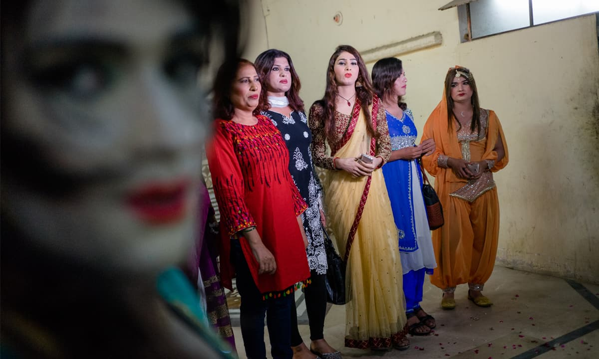 Transwomen dressed for a function