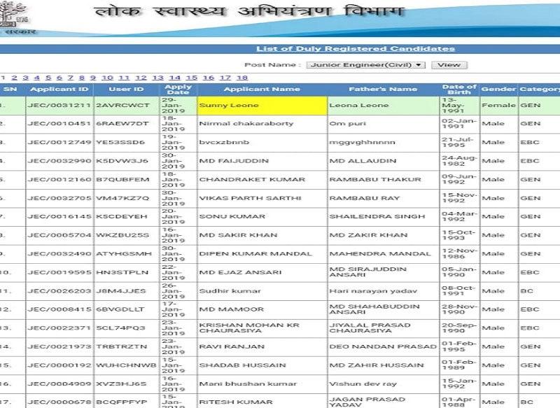 وزارت کی جانب سے جاری کی گئی فہرست—فوٹو: نیوز 18