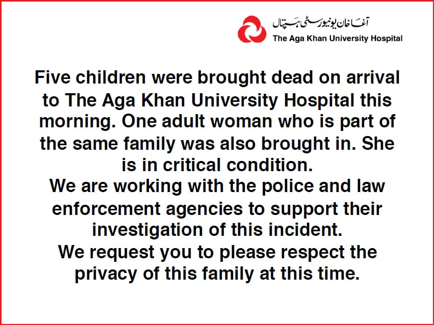 Statement released by AKUH on February 22, 2019. — AKUH