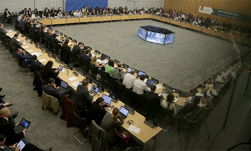 Overview of FATF plenary, the decision making body of the watchdog.  Bankers insist Pakistan must do everything to get off FATF's 'greylist' or the economy could face serious threat. — Photo courtesy: FATF website