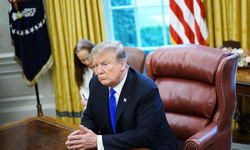 امریکی صدر ڈونلڈ ٹرمپ کے مطابق پلوامہ حملے کے بعد پاکستان اور بھارت کے تعلقات میں کافی مسائل پیدا ہو گئے ہیں— فوٹو: اے ایف پی