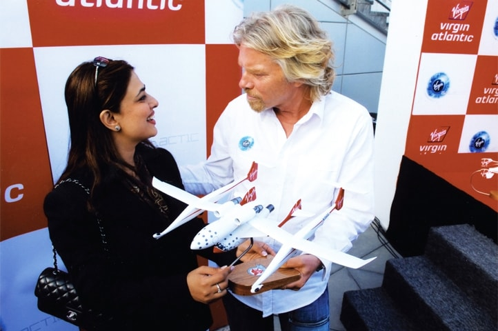 Salim with Richard Branson, founder of the Virgin Group