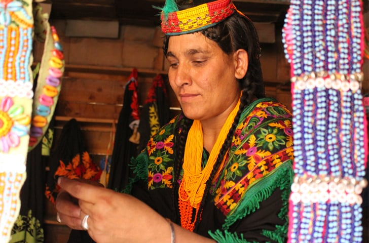 Women artisans are a frequent sight