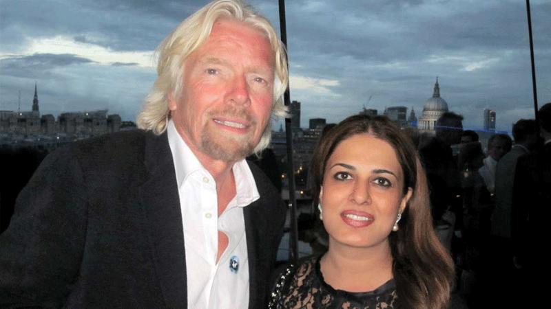 Salim with Richard Branson
