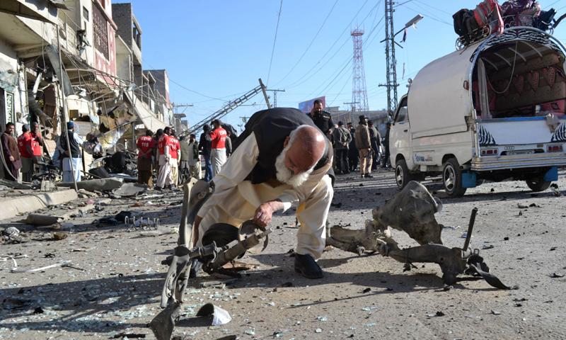 دھماکے میں ایک شخص جاں بحق ہوگیا — فائل فوٹو/ اے ایف پی