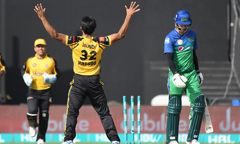 Multan Sultans set a 146-run target for Peshawar Zalmi in their 2019 Pakistan Super League (PSL) clash at the Sharjah Cricket Stadium after losing seven wickets in the last five overs of the innings.  — Pakistan Super League Twitter