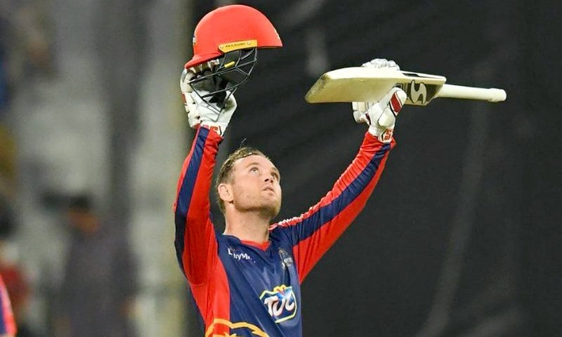 Colin Ingram received thunderous applause after scoring a century. — PSL