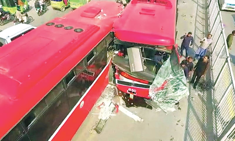 Woman killed in Lahore metro bus accident - Newspaper - DAWN COM