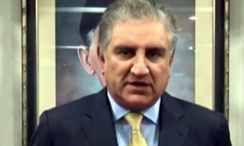 Foreign Minister Shah Mahmood Qureshi. — DawnNewsTV