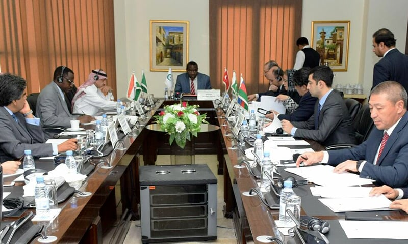 The OIC Contact Group on Jammu and Kashmir pictured during their meeting held to discuss escalation in Indian atrocities, in Jeddah, on February 26, 2019. — OIC
