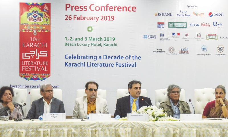 ARSHAD Saeed Husain speaks at the press conference on Tuesday.—White Star