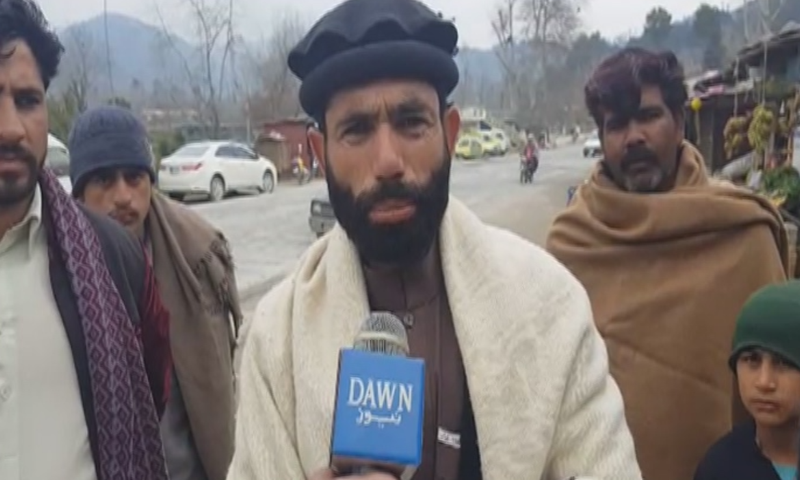 A villager from Jabba talks to Dawn News about Indian LoC violation. — DawnNewsTV