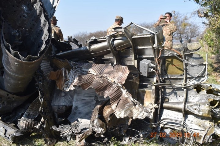 PAF shot down two Indian aircrafts inside Pakistani airspace. — Photo: ISPR