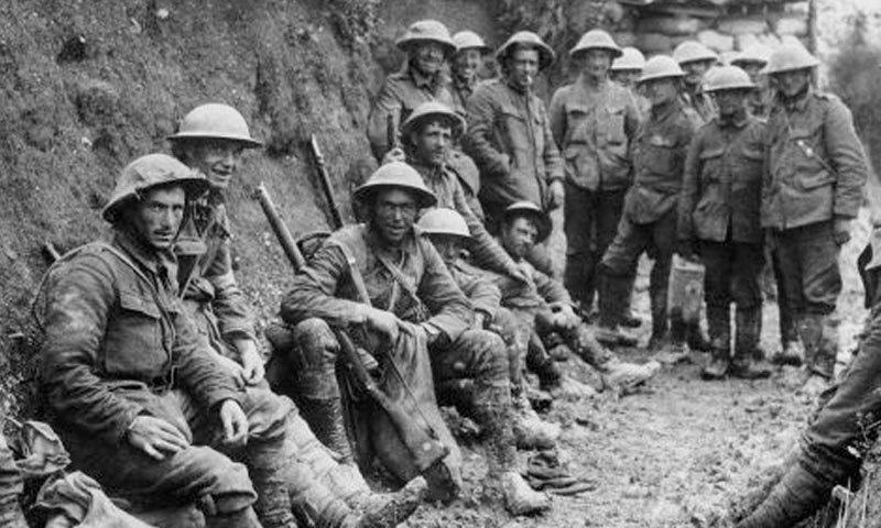جنگ عظیم اول 1914 سے 1919 تک لڑی جاتی رہی—فوٹو: آئرش ٹائمز
