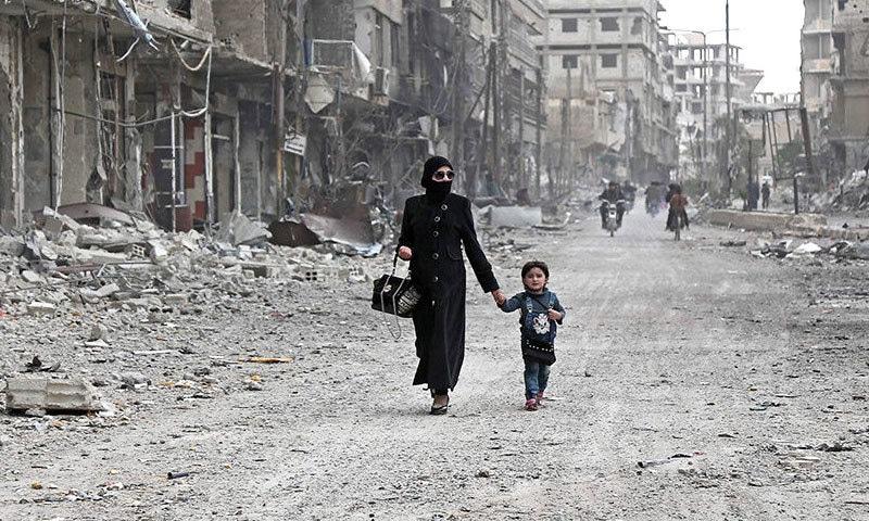 شام میں خانہ جنگی سے لاکھوں افراد بے گھر ہوچکے—فوٹو: پیس ایکشن